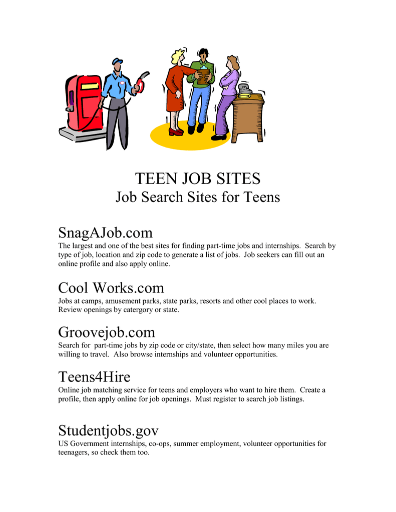 job listings Teen