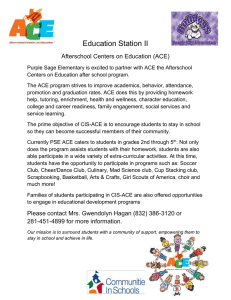 Education Station II  Afterschool Centers on Education (ACE)