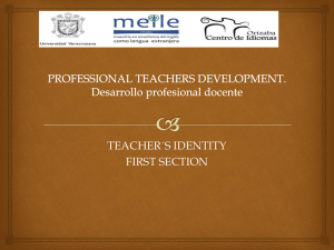 TEACHER´S IDENTITY FIRST SECTION