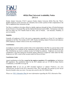 2 0 1 4 403(b) Plan Universal Availability Notice