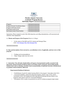 Florida Atlantic University Academic Program Review Self-Study Report