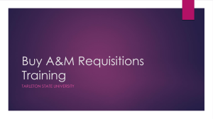 Buy A&M Requisitions Training TARLETON STATE UNIVERSITY