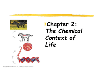  Chapter 2: The Chemical Context of