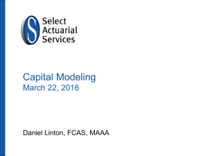Capital Modeling March 22, 2016 Daniel Linton, FCAS, MAAA