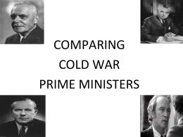 COMPARING COLD WAR PRIME MINISTERS