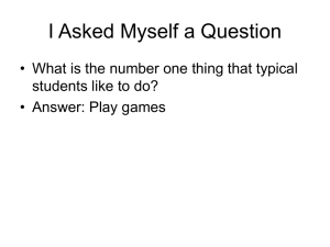 I Asked Myself a Question students like to do?