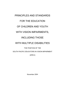 PRINCIPLES AND STANDARDS FOR THE EDUCATION OF CHILDREN AND YOUTH