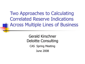 Two Approaches to Calculating Correlated Reserve Indications Across Multiple Lines of Business