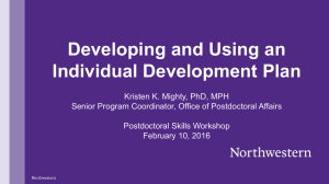 Developing and Using an Individual Development Plan