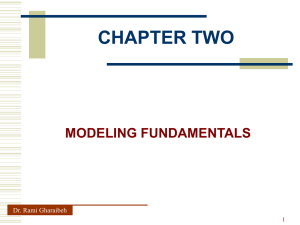CHAPTER TWO MODELING FUNDAMENTALS Dr. Rami Gharaibeh 1