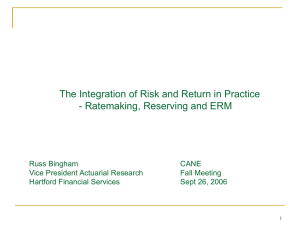 The Integration of Risk and Return in Practice