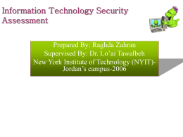 Information Technology Security Assessment