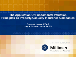 The Application Of Fundamental Valuation Principles To Property/Casualty Insurance Companies