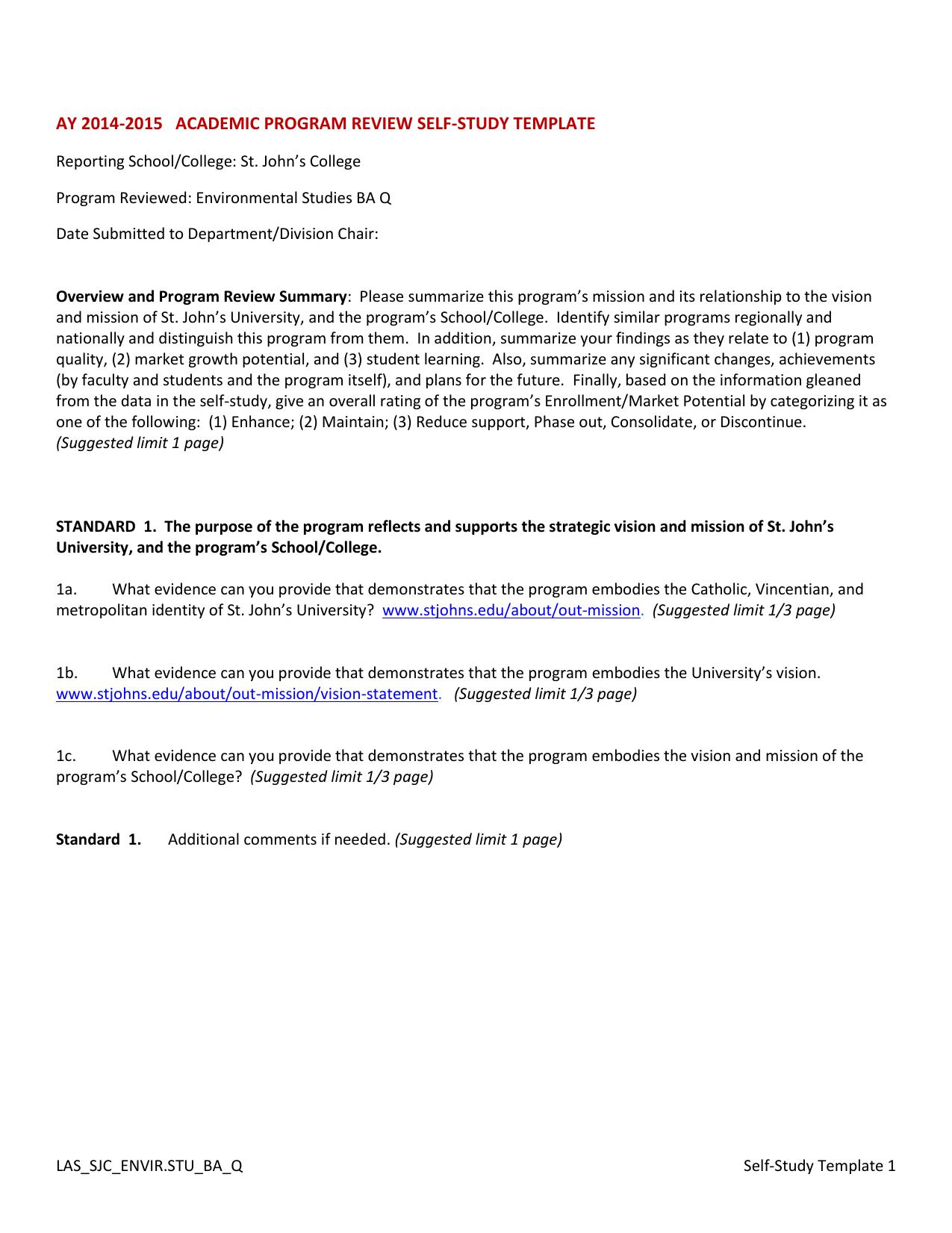 Academic program review external reviewers report template pdf.