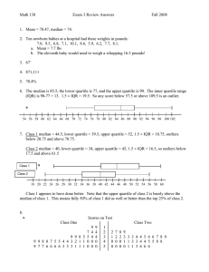 Math 138 Exam 3 Review Answers Fall 2008