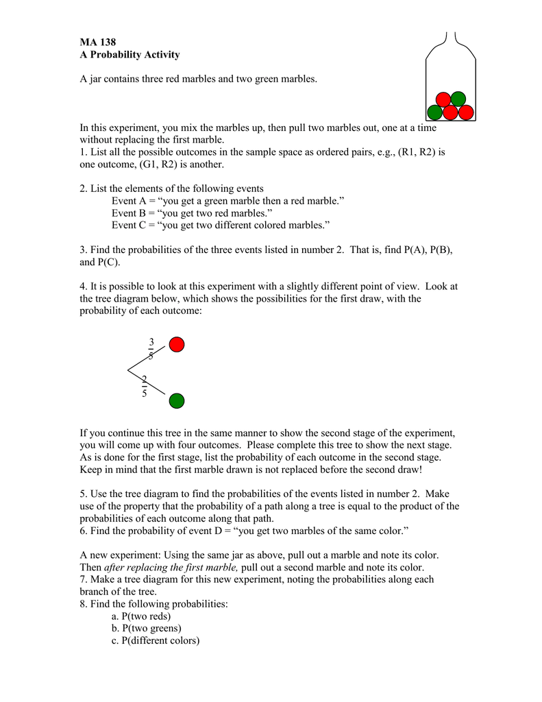 Ma 138 A Probability Activity