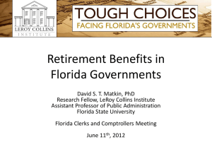 Retirement Benefits in Florida Governments