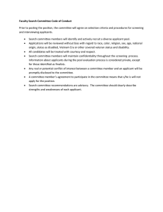 Faculty Search Committee Code of Conduct
