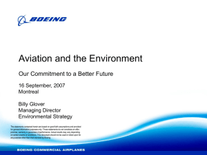Aviation and the Environment Our Commitment to a Better Future Montreal