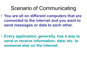 Scenario of Communicating You are all on different computers that are