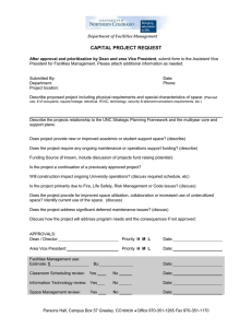 CAPITAL PROJECT REQUEST
