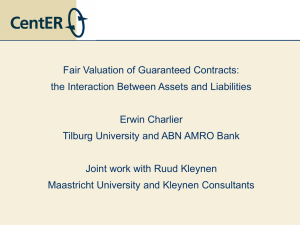 Fair Valuation of Guaranteed Contracts: the Interaction Between Assets and Liabilities