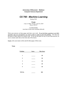 CS 760 - Machine Learning
