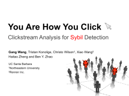 You Are How You Click Clickstream Analysis for Detection Sybil