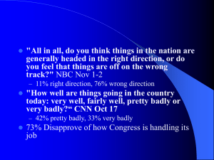 """All in all, do you think things in the nation... generally headed in the right direction, or do"