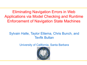 Eliminating Navigation Errors in Web Applications via Model Checking and Runtime