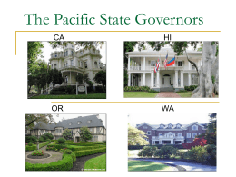 The Pacific State Governors CA HI OR