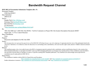 Bandwidth Request Channel