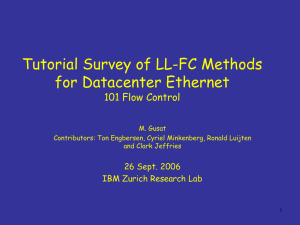 Tutorial Survey of LL-FC Methods for Datacenter Ethernet 101 Flow Control