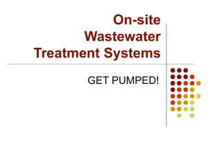 On-site Wastewater Treatment Systems GET PUMPED!