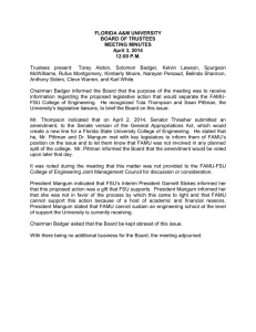 FLORIDA A&M UNIVERSITY BOARD OF TRUSTEES MEETING MINUTES April 3, 2014