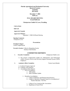 Florida Agricultural and Mechanical University Board of Trustees AGENDA