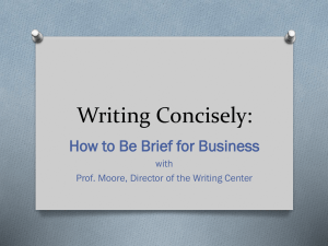 Writing Concisely: How to Be Brief for Business with