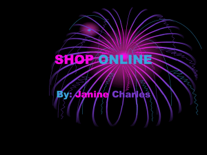 SHOP ONLINE By :