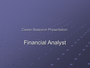 Financial Analyst Career Research Presentation:
