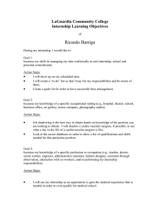 Ricardo Barriga LaGuardia Community College Internship Learning Objectives