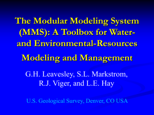 The Modular Modeling System (MMS): A Toolbox for Water- and Environmental-Resources