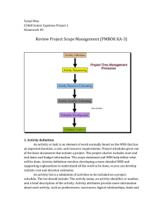 Review Project Scope Management (PMBOK KA-3)