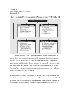 Review Project Communications Management (PMBOK KA-7)
