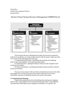 Review Project Human Resource Management (PMBOK KA-6)