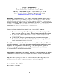 REQUEST FOR PROPOSALS Comprehensive School-Based Health Center Program