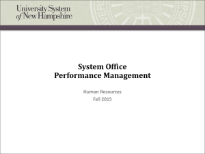 System Office Performance Management Human Resources Fall 2015