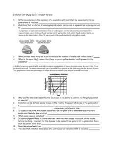 Evolution Unit Study Guide – Student Version  1.