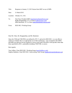 Title: Response to January 13, 2013 liaison from MEF on use...  Date: