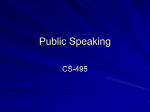 Public Speaking CS-495