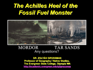 The Achilles Heel of the Fossil Fuel Monster DR. ZOLTÁN GROSSMAN